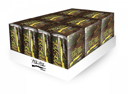 Yee Yee Energy Drinks - 4 Pack Case (6, 4 Packs)